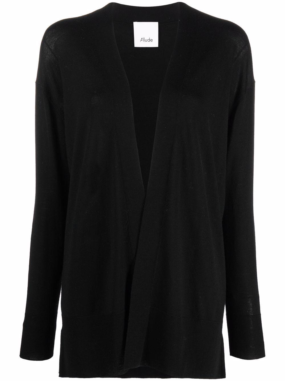 Black virgin wool cardigan  ALLUDE      215/64013490