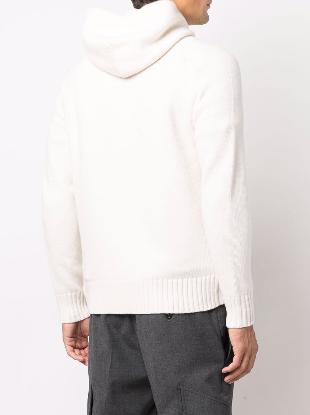 White wool knitted zip-up cardigan  ALTEA |  | 216105828