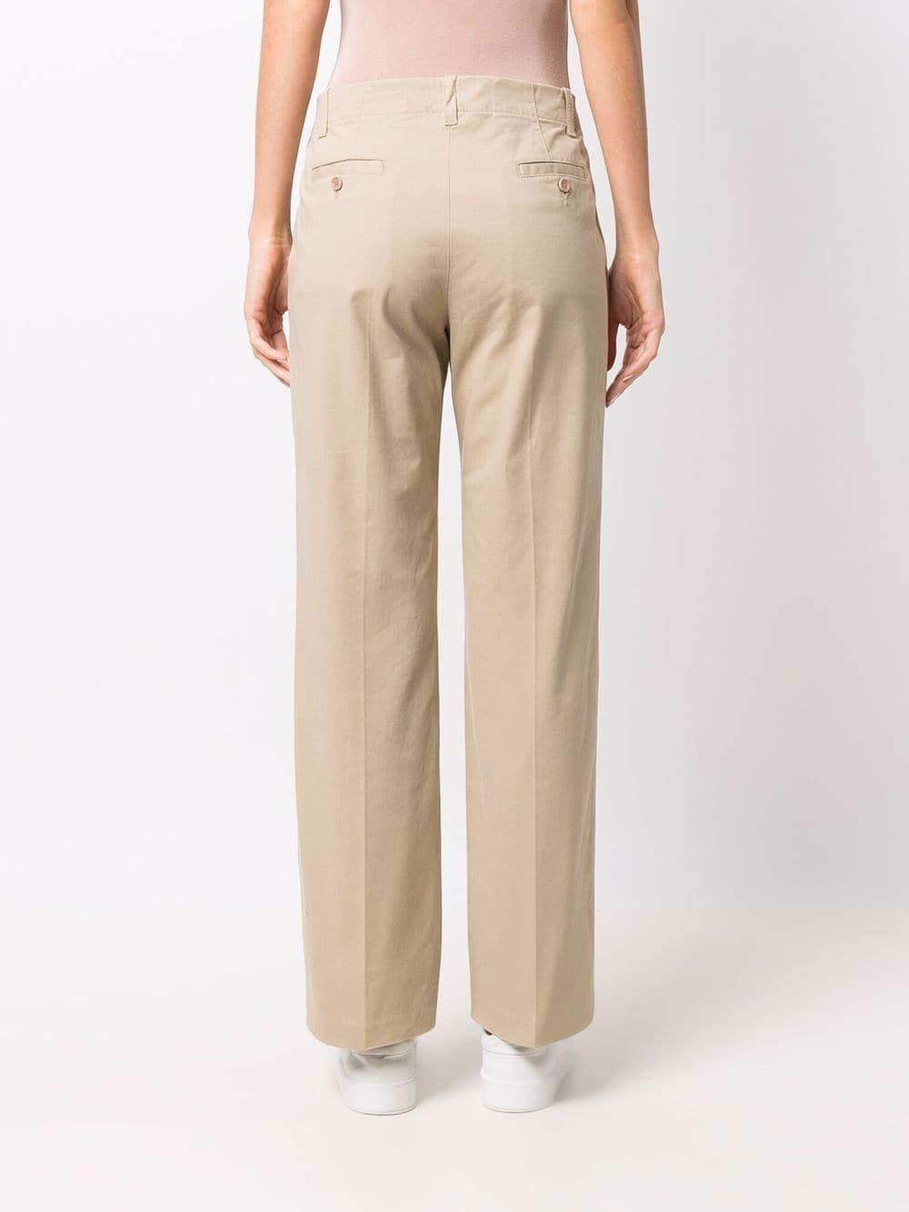 Pantaloni a gamba larga in cotone beige ASPESI   Pantaloni   0112-G39801047