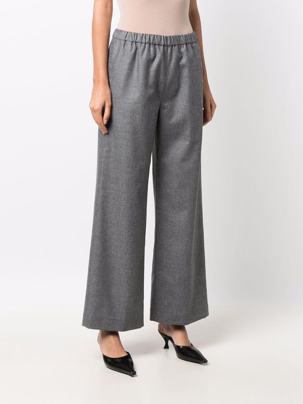 Pantaloni a gamba larga in lana grigio scuro con elastico in vita ASPESI | Pantaloni | 0128-L62901190