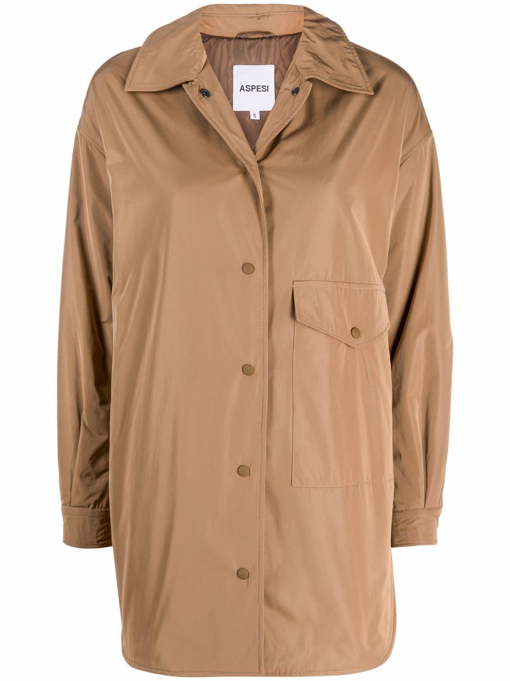 giacca/camicia marrone con chiusura con bottoni a pressione ASPESI | Giacche | 1N29-G70301323