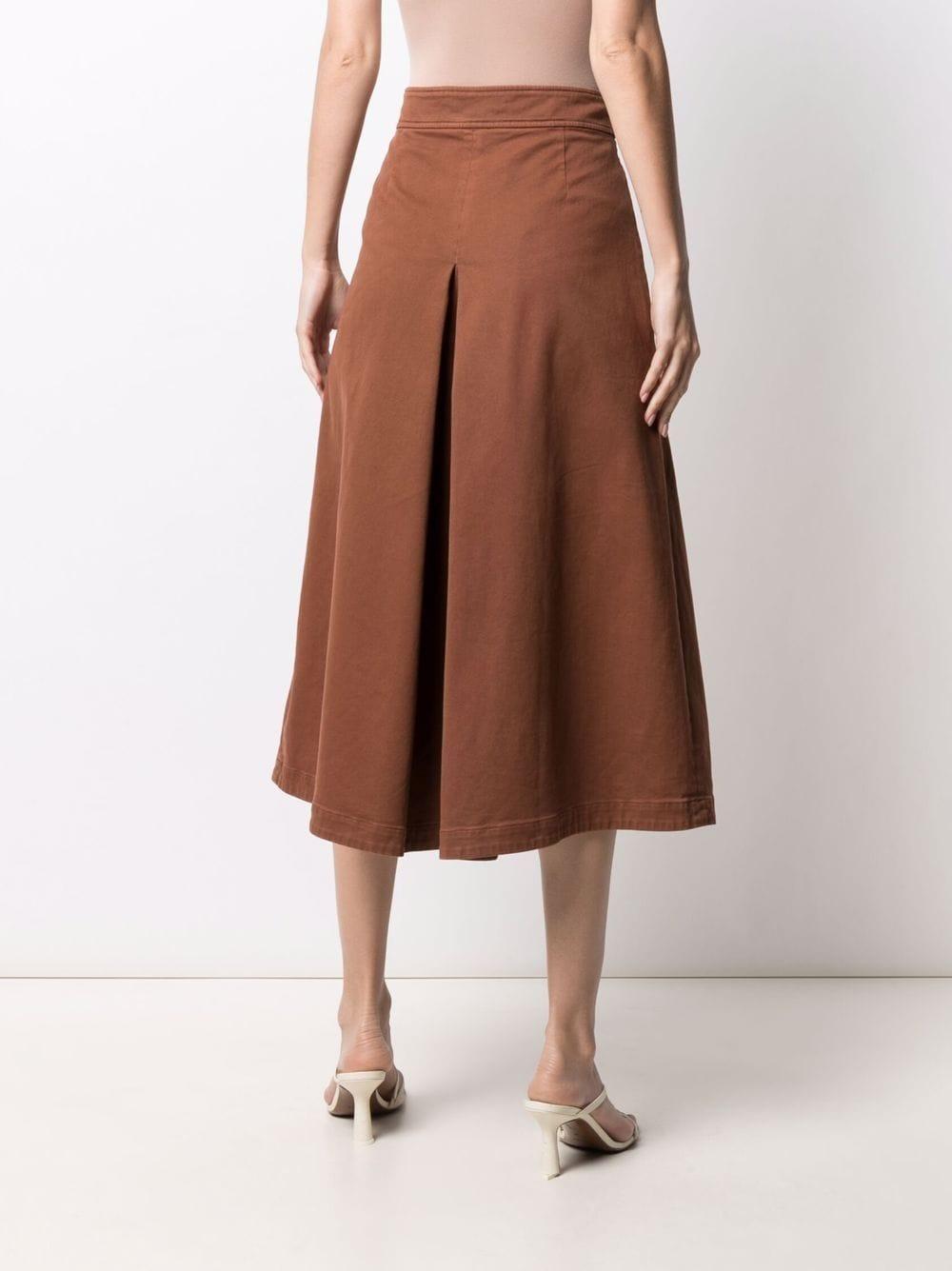 Gonna a trapezio plissettata in cotone marrone ruggine ASPESI | Gonne | 2206-E72985229