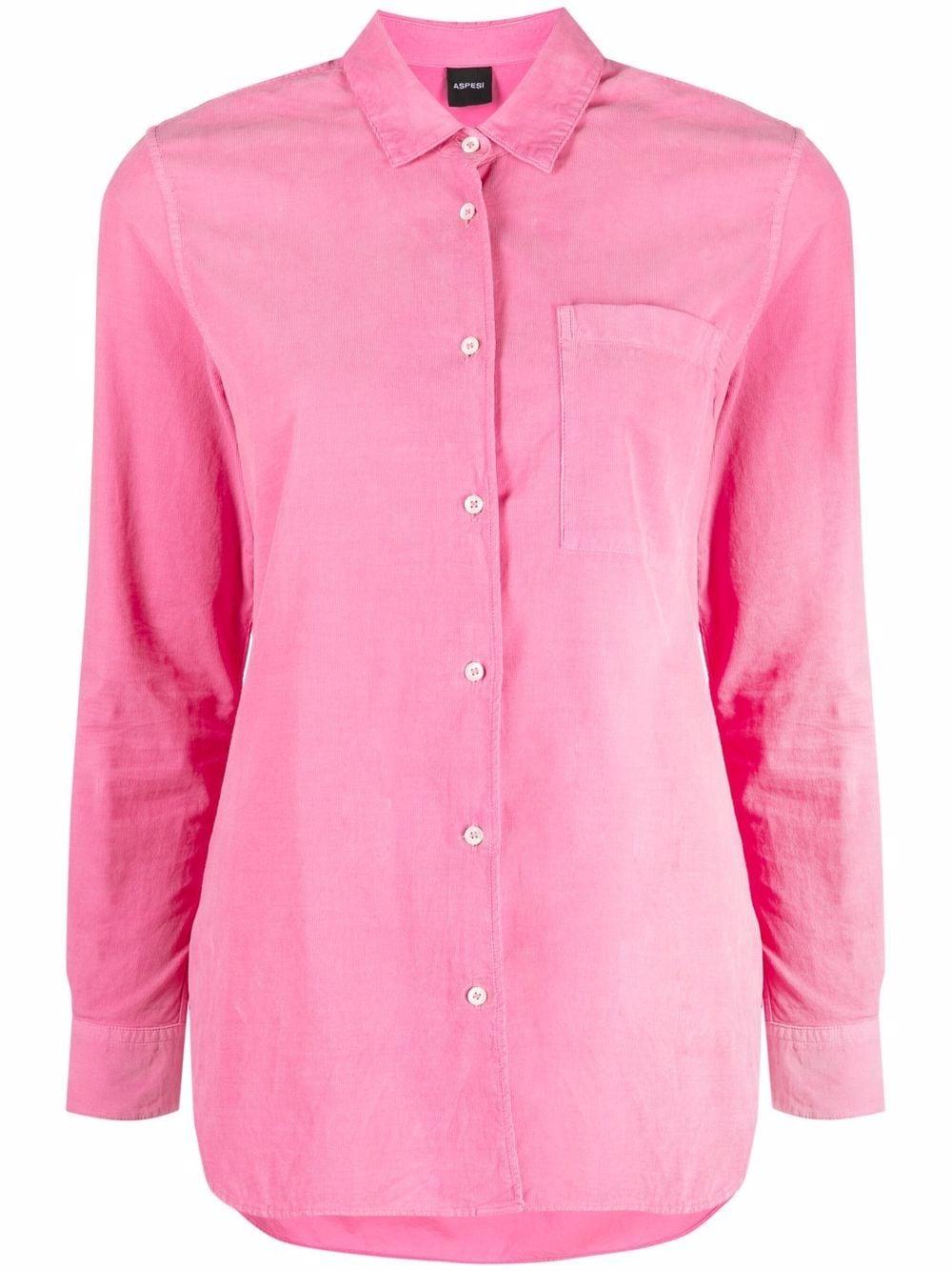 Camicia rosa in cotone a maniche lunghe con taschino ASPESI   Camicie   5403-G53685278