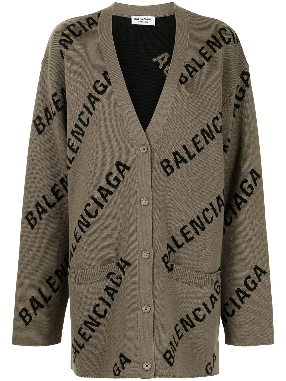 Light brown cotton and wool oversized cardigan   BALENCIAGA |  | 659675-T32002900