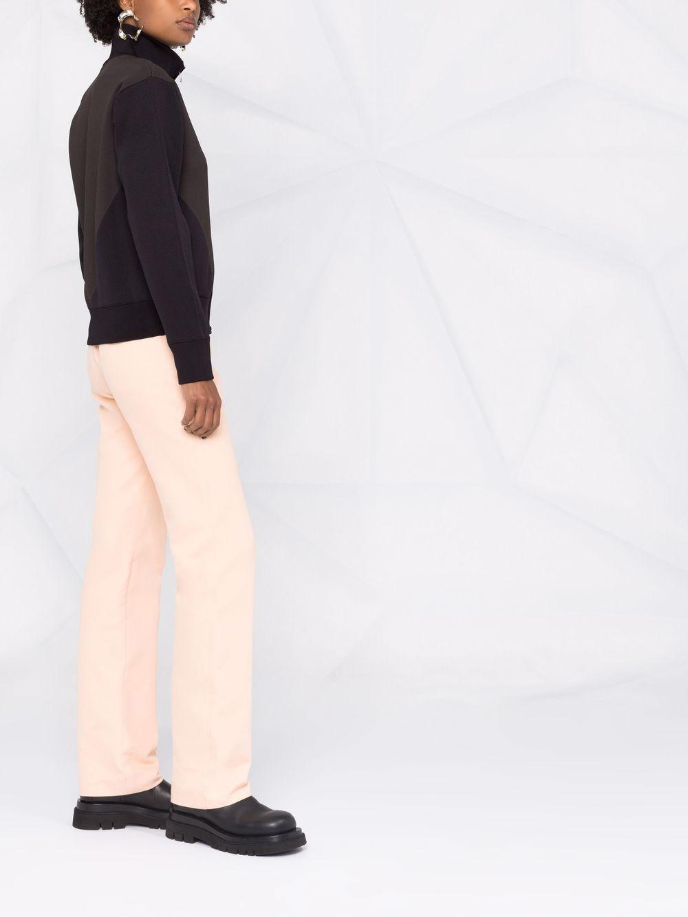 Cardigan in tessuto tecnico blu e grigio a contrasto BOTTEGA VENETA   Cardigan   665076-V0C102113