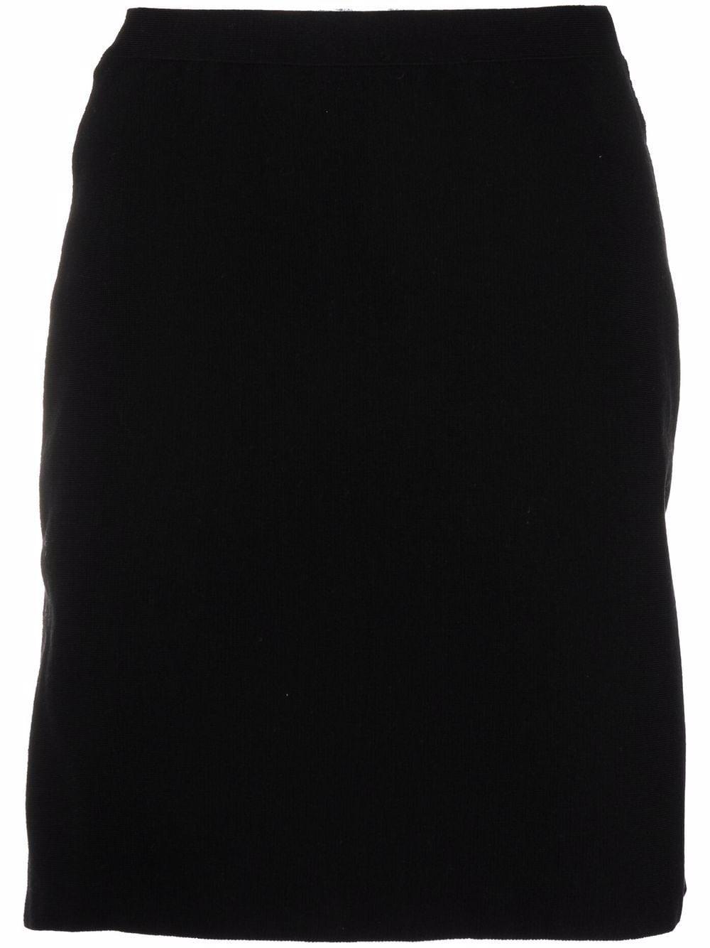 Black wool knitted skirt featuring peplum hem  BOTTEGA VENETA |  | 666516-V12V01000