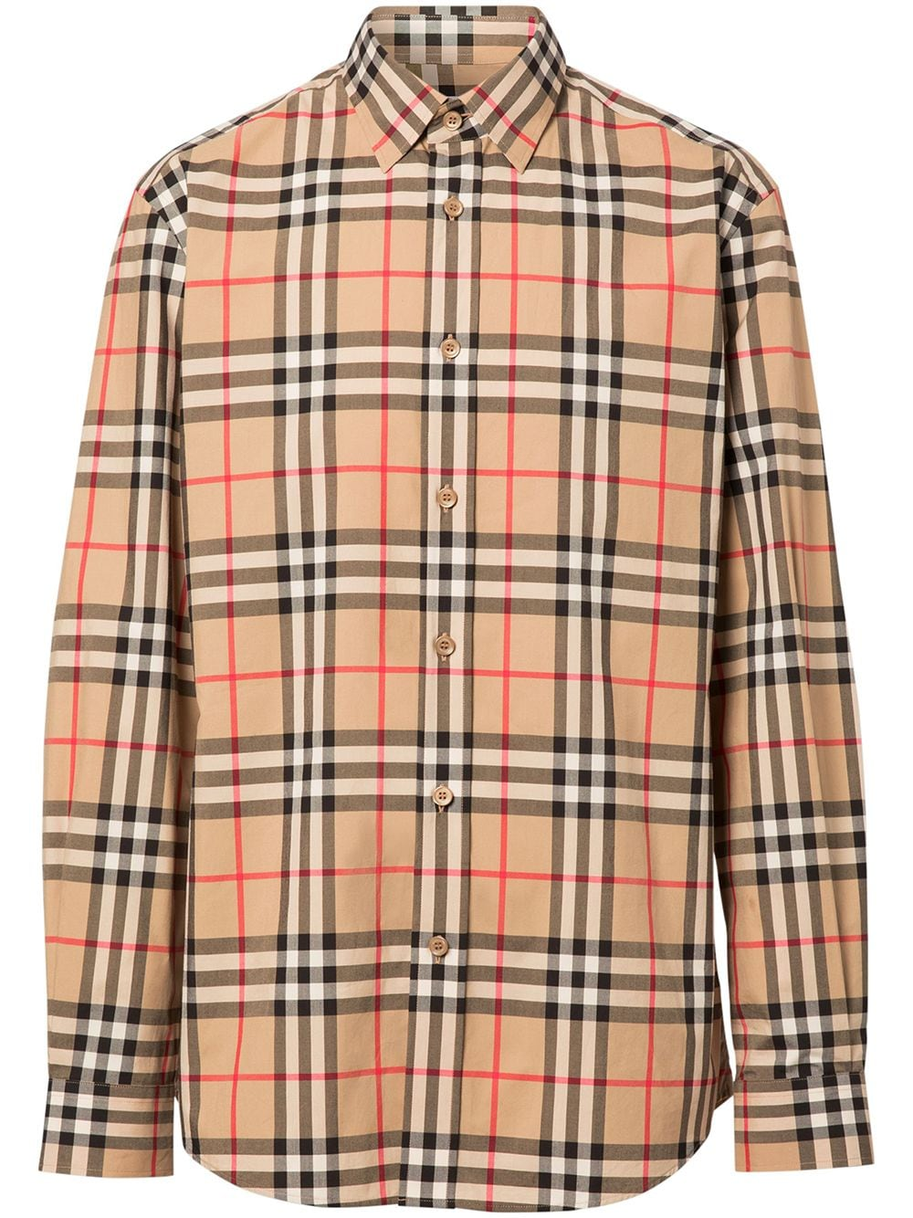 camicia beige Archive Vintage Check in popeline di cotone BURBERRY   Camicie   8020863-CAXTONA7028