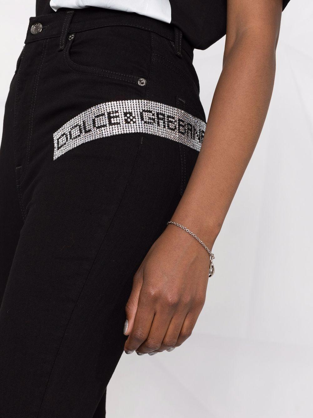 Black cotton skinny jeans from featuring high waist DOLCE & GABBANA |  | FTBXHZ-G901YS9001