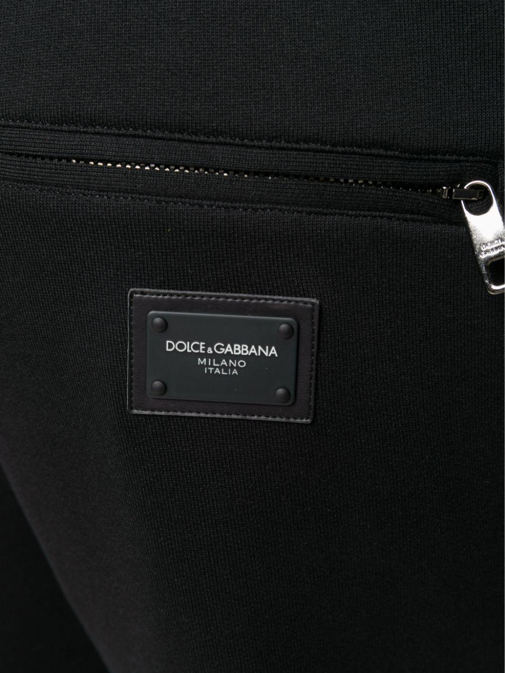 black cotton sweatpants with elasticated drawstring waistband DOLCE & GABBANA      GYWDAT-FU7DUN0000
