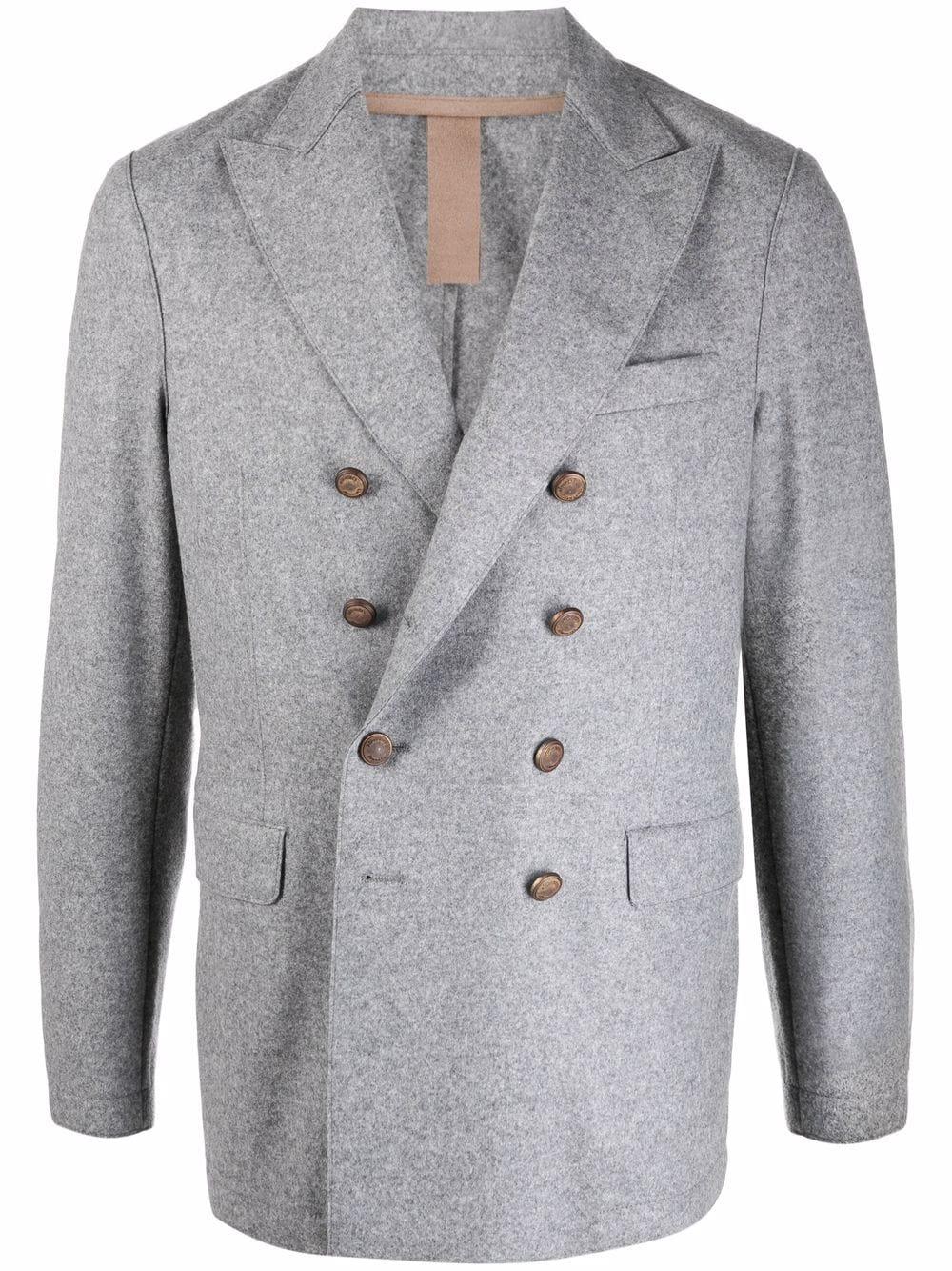 Light grey wool double-breasted blazer  ELEVENTY |  | D70GIAB08-JAC2401814N