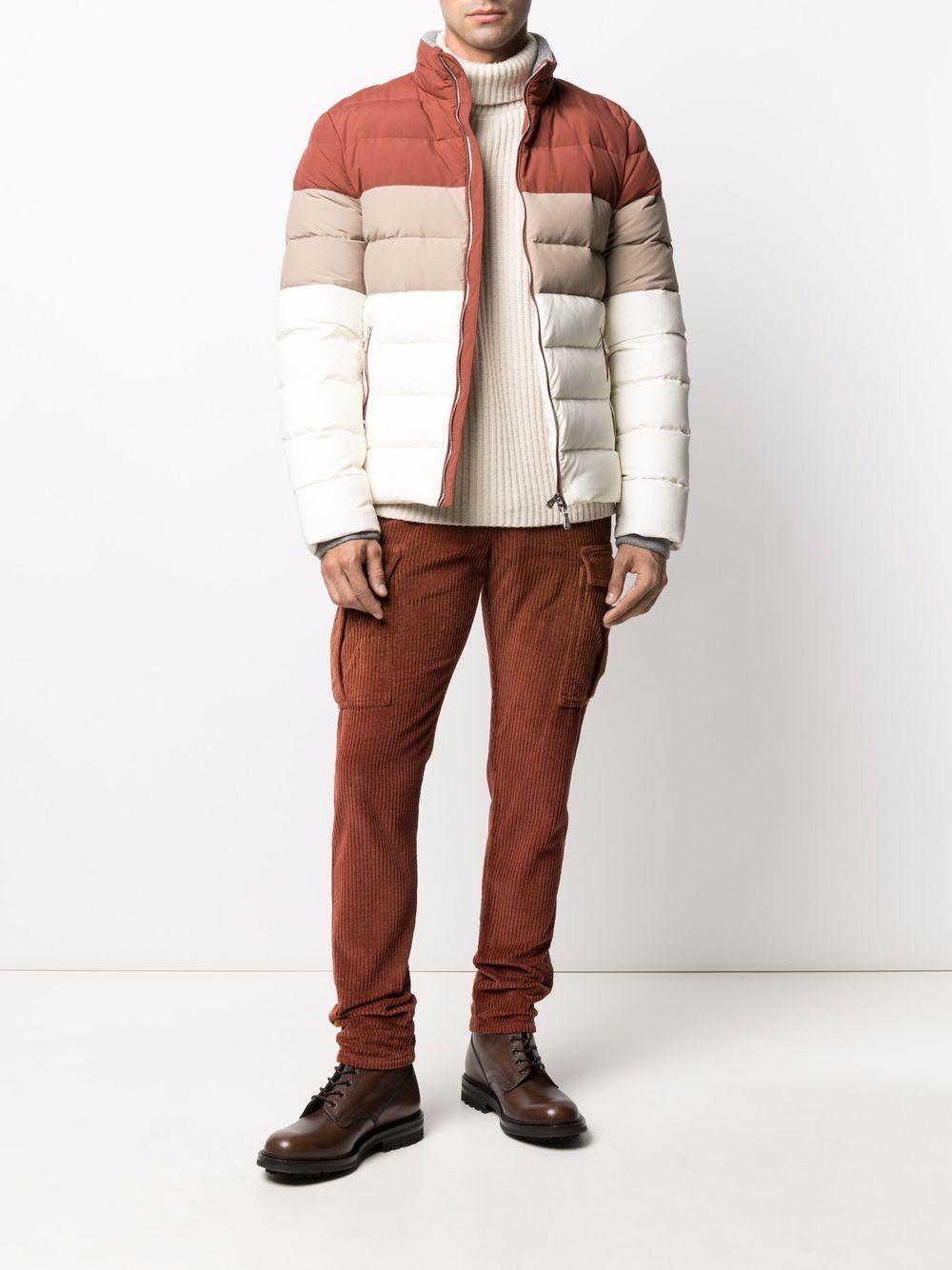 Rust-brown cotton corduroy cargo trousers  ELEVENTY      D70PAND03-TET0D00709