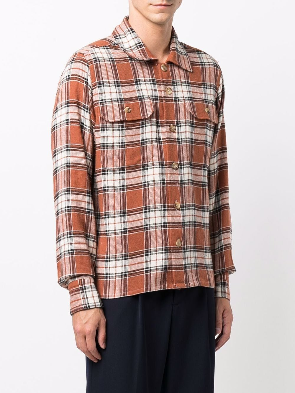 Multicoloured cotton and linen blend check-print  ELEVENTY |  | D75CAMD01-TES0D09809