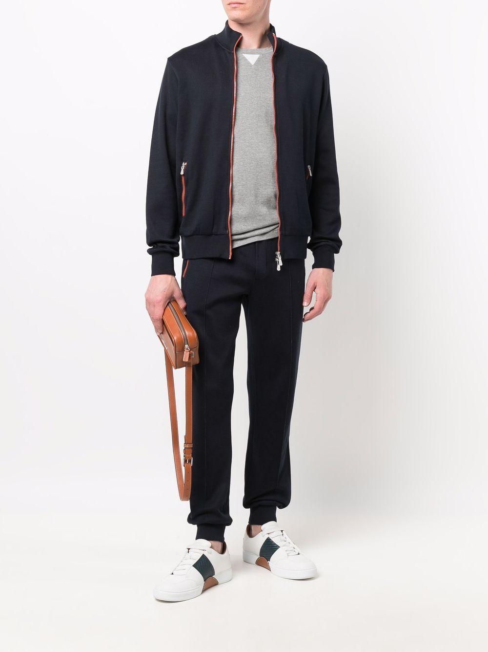 Pantaloni sportivi neri in cotone con coulisse alle caviglie elastiche ELEVENTY | Pantaloni | D75FELD13-FEL2600511A