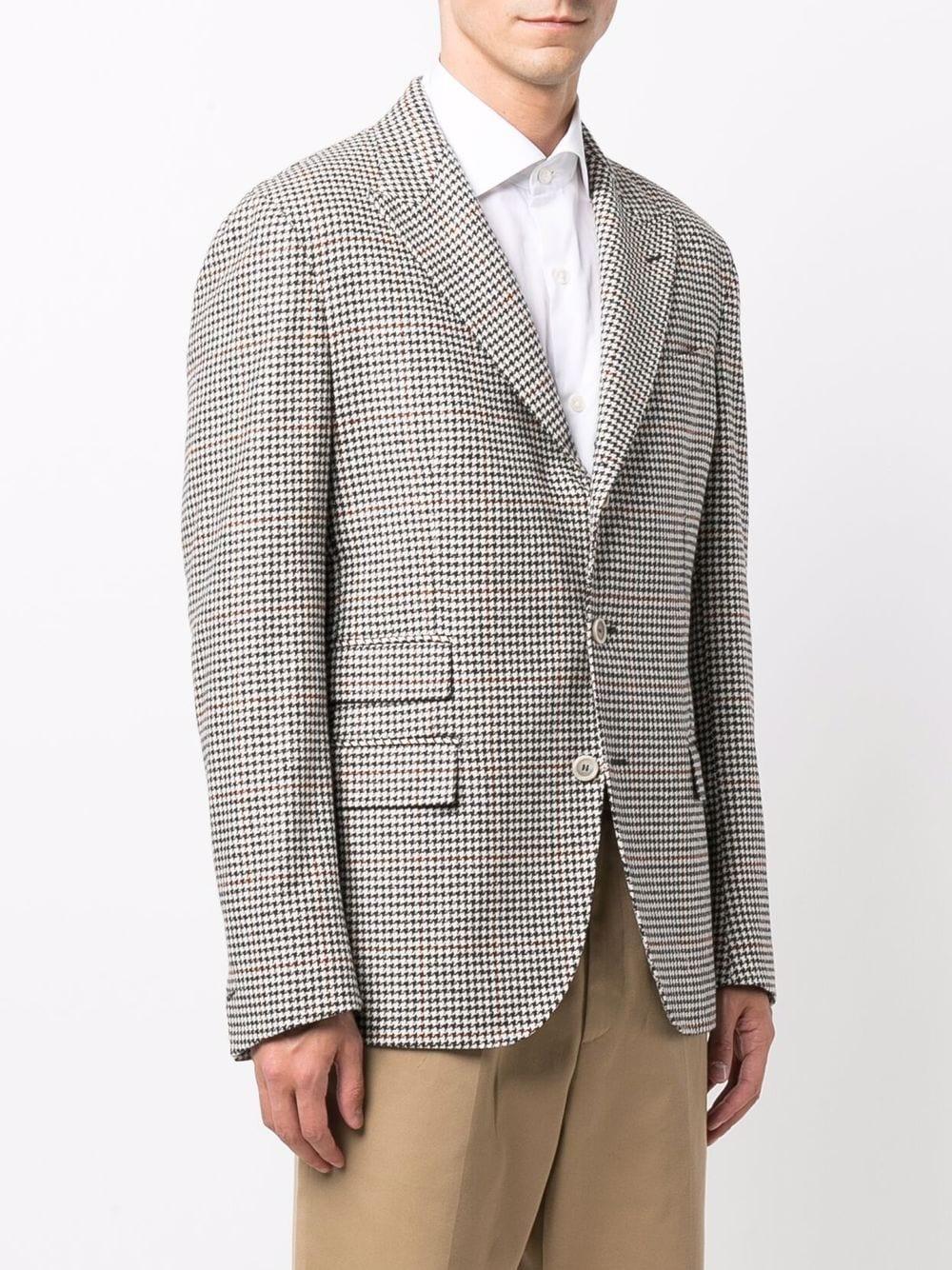 Pale grey cashmere-wool blend check-print single-breasted blazer  ELEVENTY |  | D75GIAC15-TES0D07015