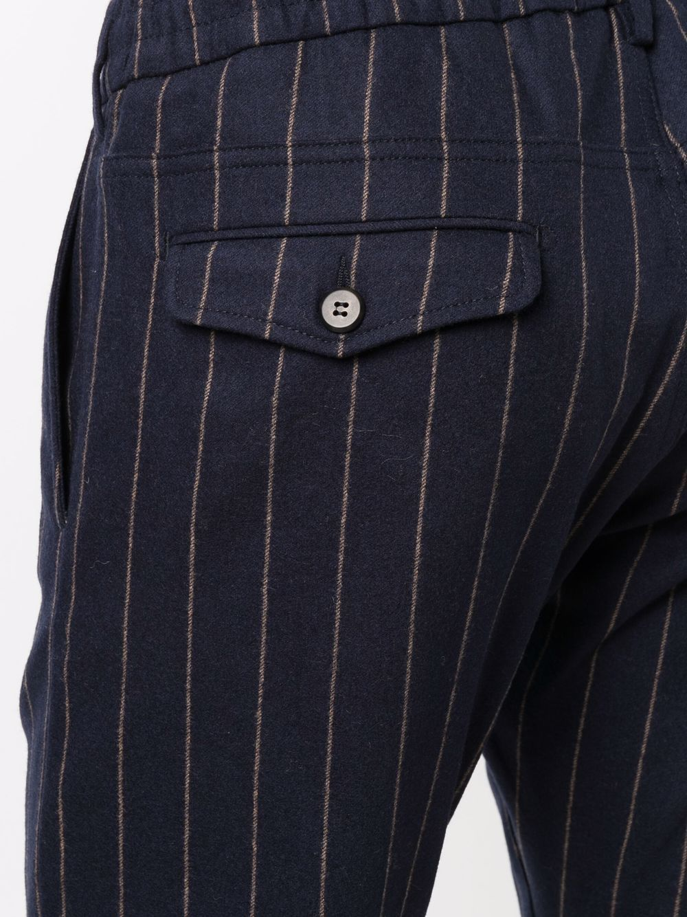 Dark blue wool and cashmere pinstripe straight leg trousers  ELEVENTY |  | D75PANB21-TES0D03511