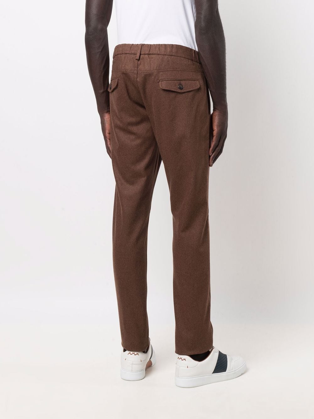 pantalone sartoriale testa di moro in lana e cashmere con coulisse ELEVENTY | Pantaloni | D75PANB21-TES0D03705