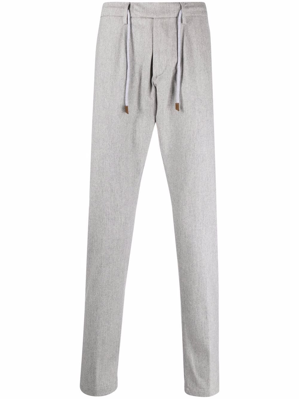 grey wool and cashmere drawstring tailored trousers  ELEVENTY |  | D75PANB21-TES0D03713