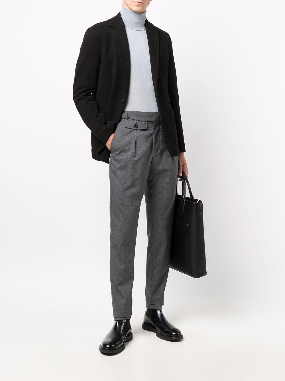 Pantaloni a vita alta in lana grigio medio ELEVENTY   Pantaloni   D75PAND03-TES0D05514