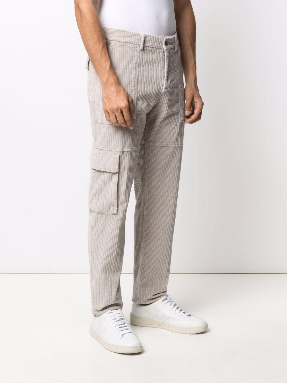 Pantaloni cargo in velluto a coste di cotone stretch sabbia ELEVENTY | Pantaloni | D75PAND04-TET0D00302