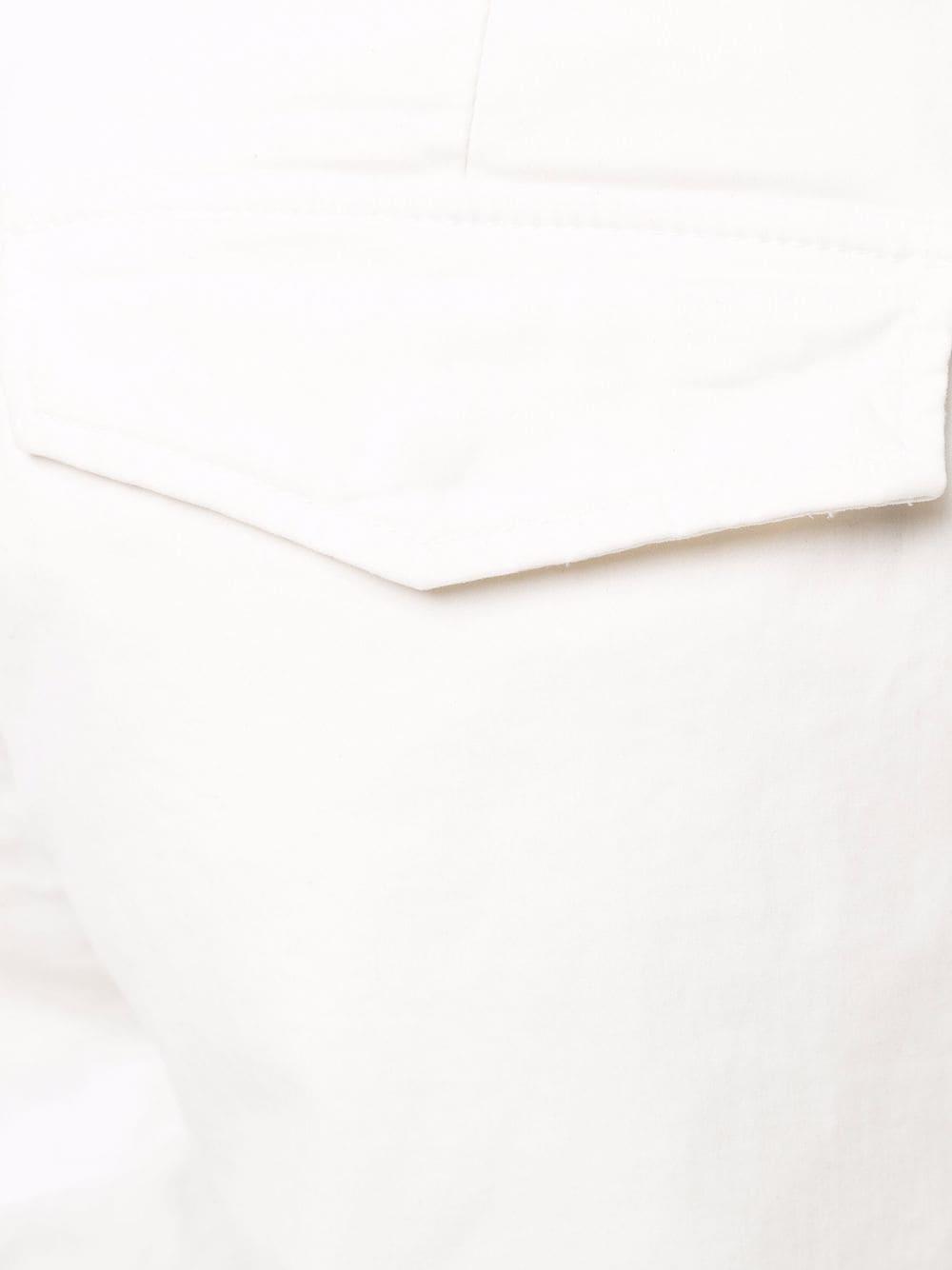 Pantalone slim fit in cotone elasticizzato bianco ELEVENTY | Pantaloni | D75PAND05-TET0C00601