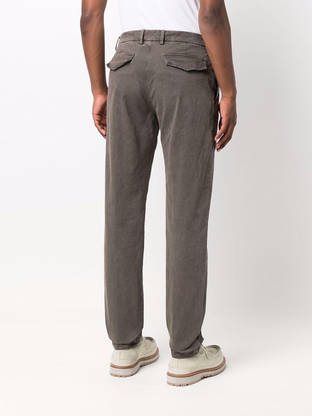 Pantaloni a gamba dritta in cotone stretch grigio medio ELEVENTY | Pantaloni | D75PAND05-TET0C00609