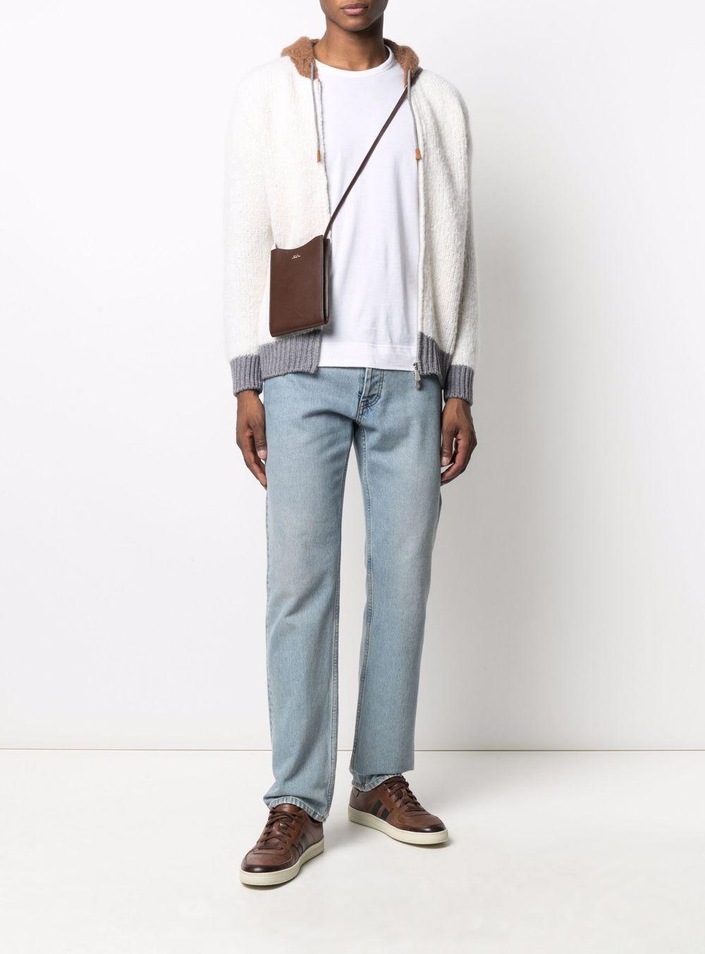 cardigan multicolore in maglia di seta e cashmere  con cappuccio ELEVENTY | Cardigan | D76MAGD24-MAG0D01400
