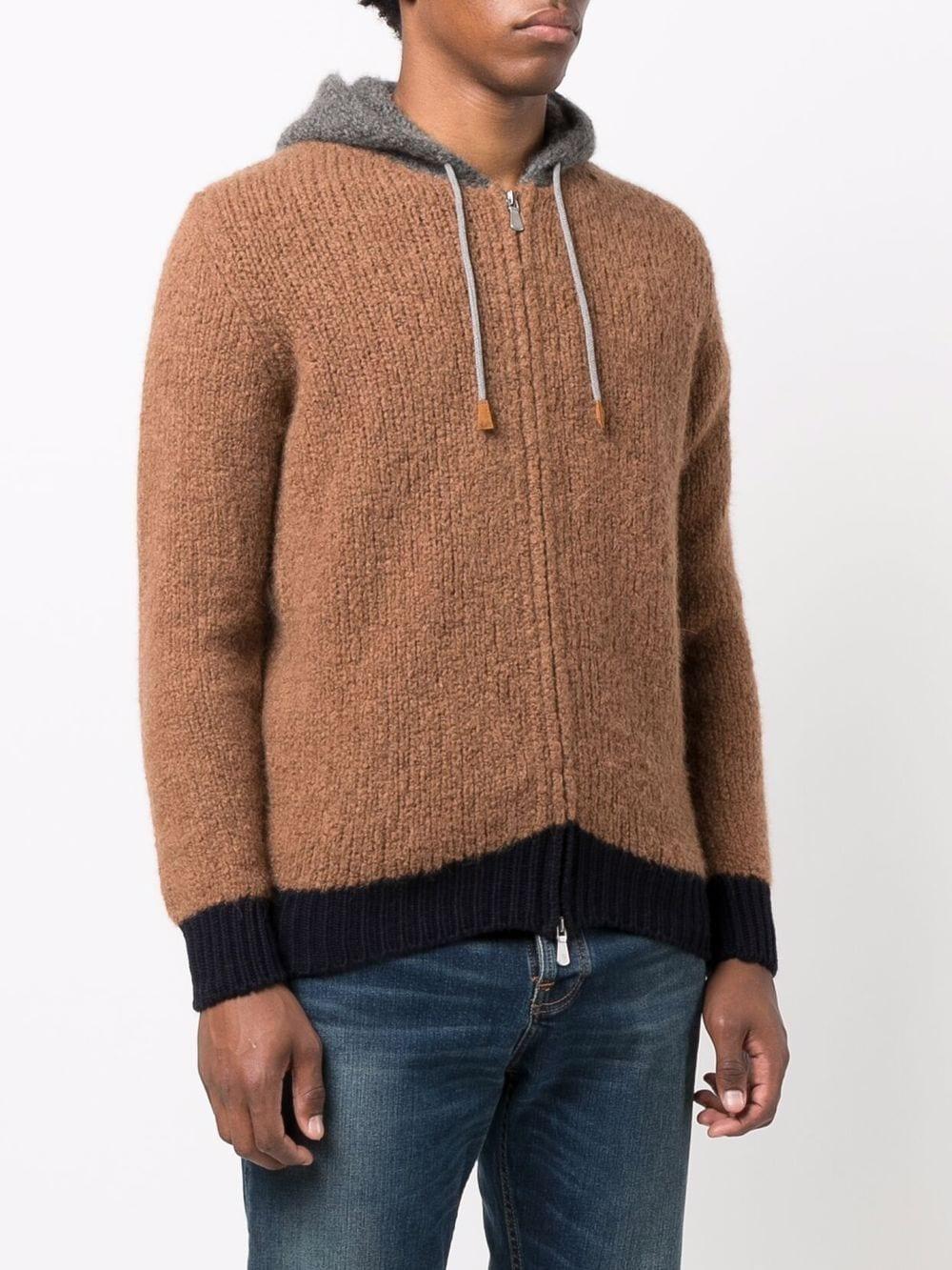 Cardigan in maglia di cashmere, lana e seta color cammello ELEVENTY   Cardigan   D76MAGD24-MAG0D01404