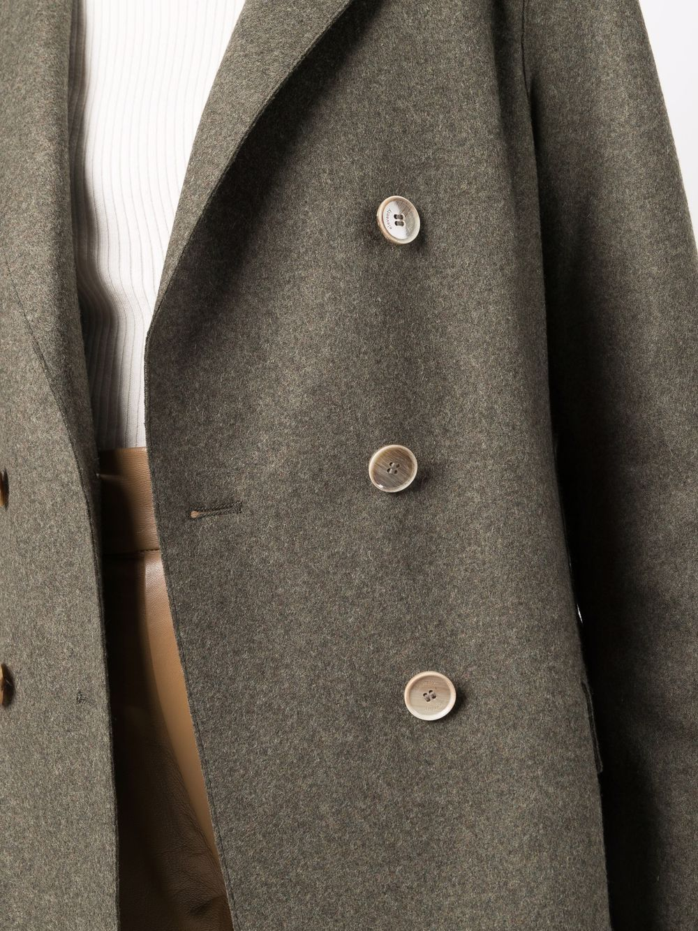 Military green wool-blend double-breasted tailored blazer  ELEVENTY |  | D80GIAD02-JAC2401807