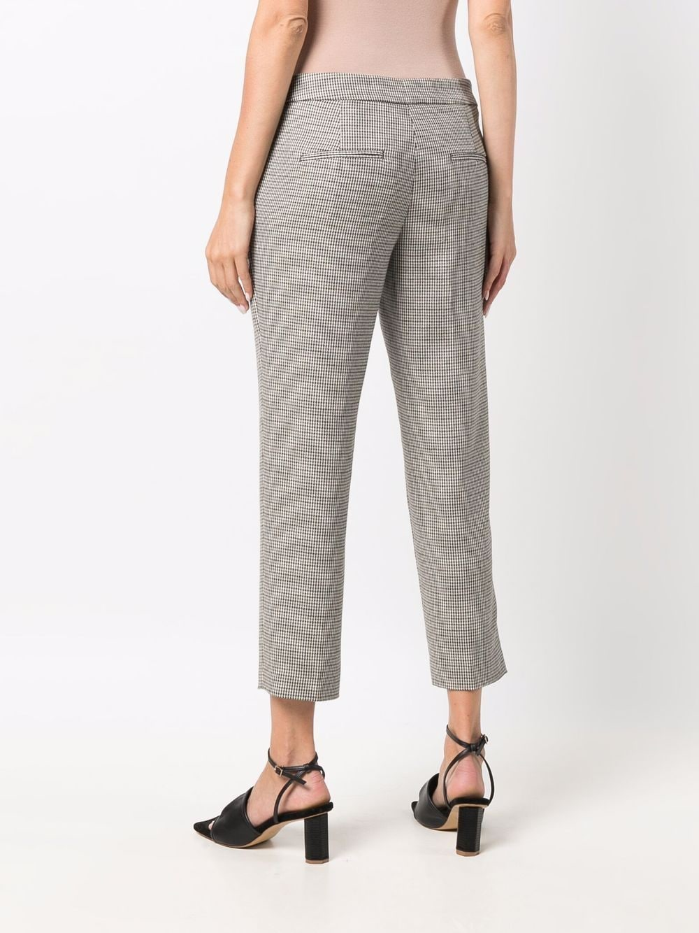Grey wool houndstooth cropped trousers  ELEVENTY |  | D80PAND12-TES0D12220