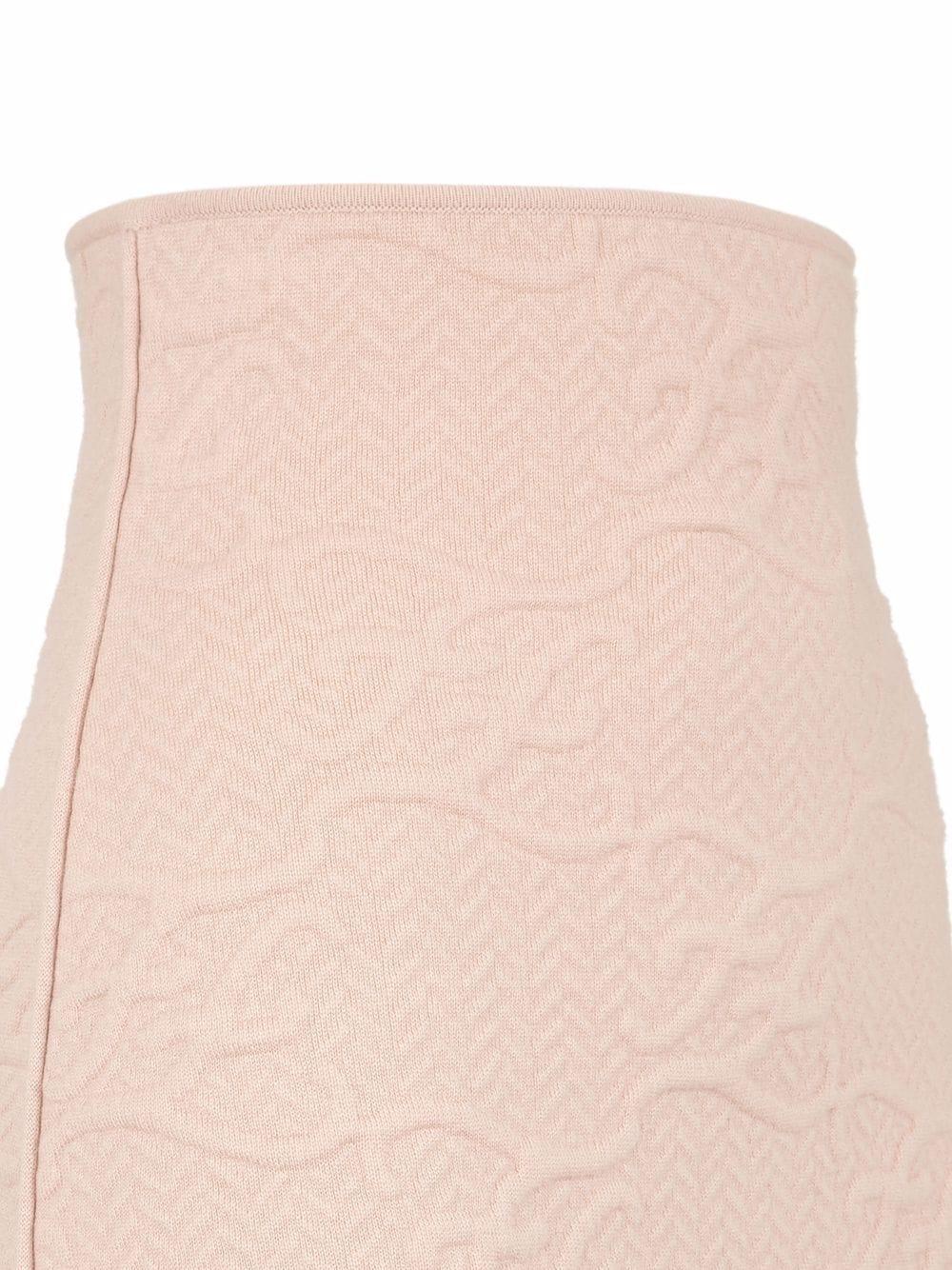 Pink FF Karligraphy pencil skirt  FENDI |  | FZQ646-AHE9F1ENM