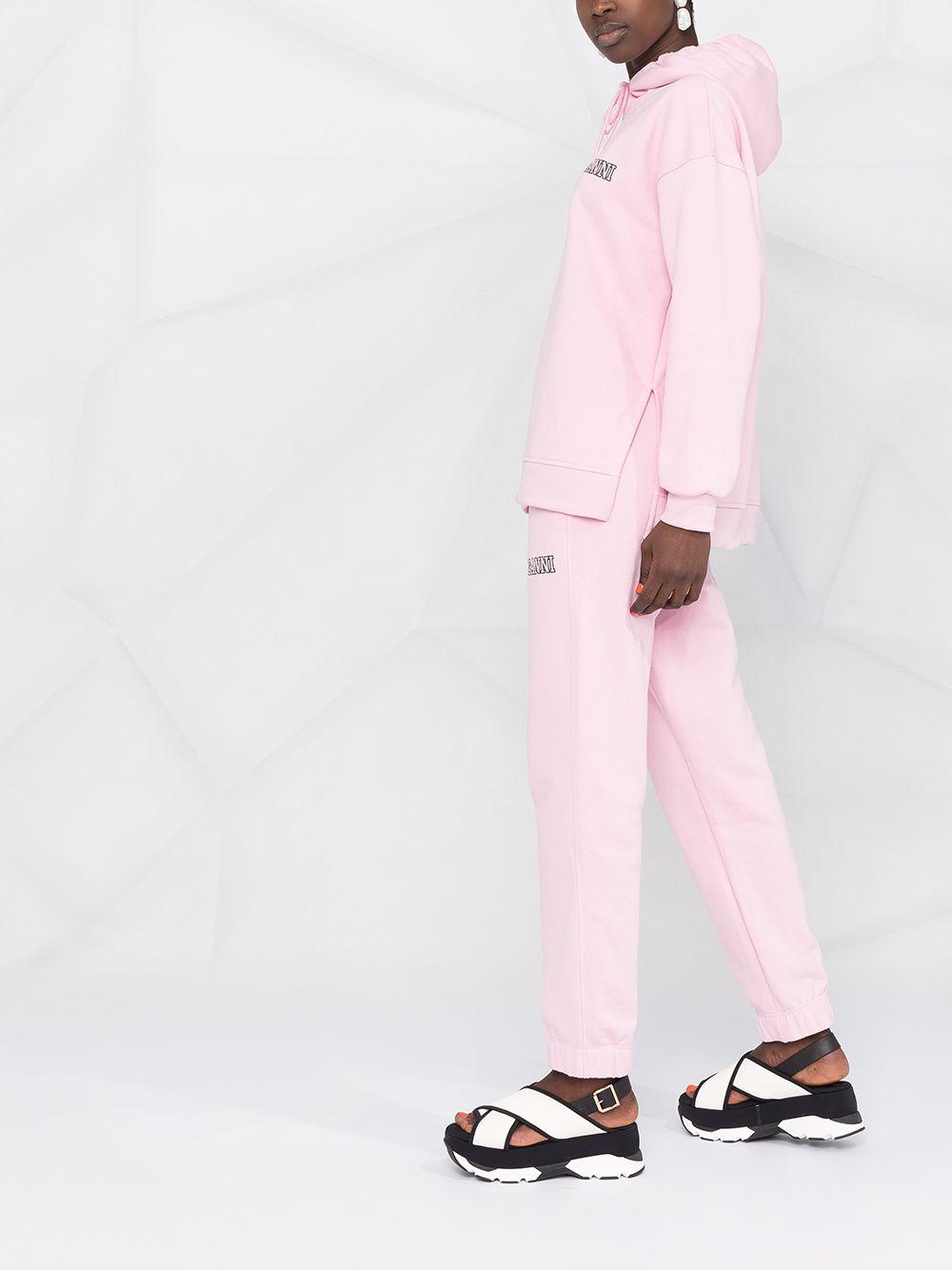 pantaloni sportivi affusolati rosa in cotone organico riciclato GANNI   Pantaloni   T2925465