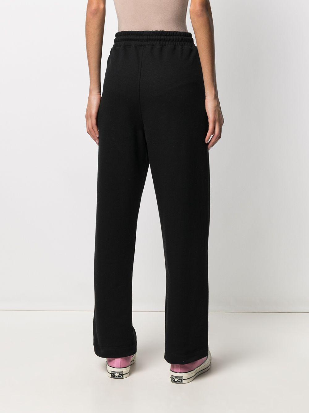 Pantaloni sportivi neri in cotone organico riciclato GANNI   Pantaloni   T2926099