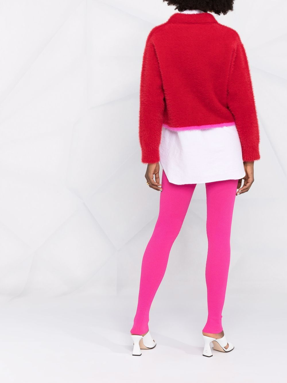 Pink Le Legging Arancia leggings featuring ribbed knit JACQUEMUS      213KN66-206450430