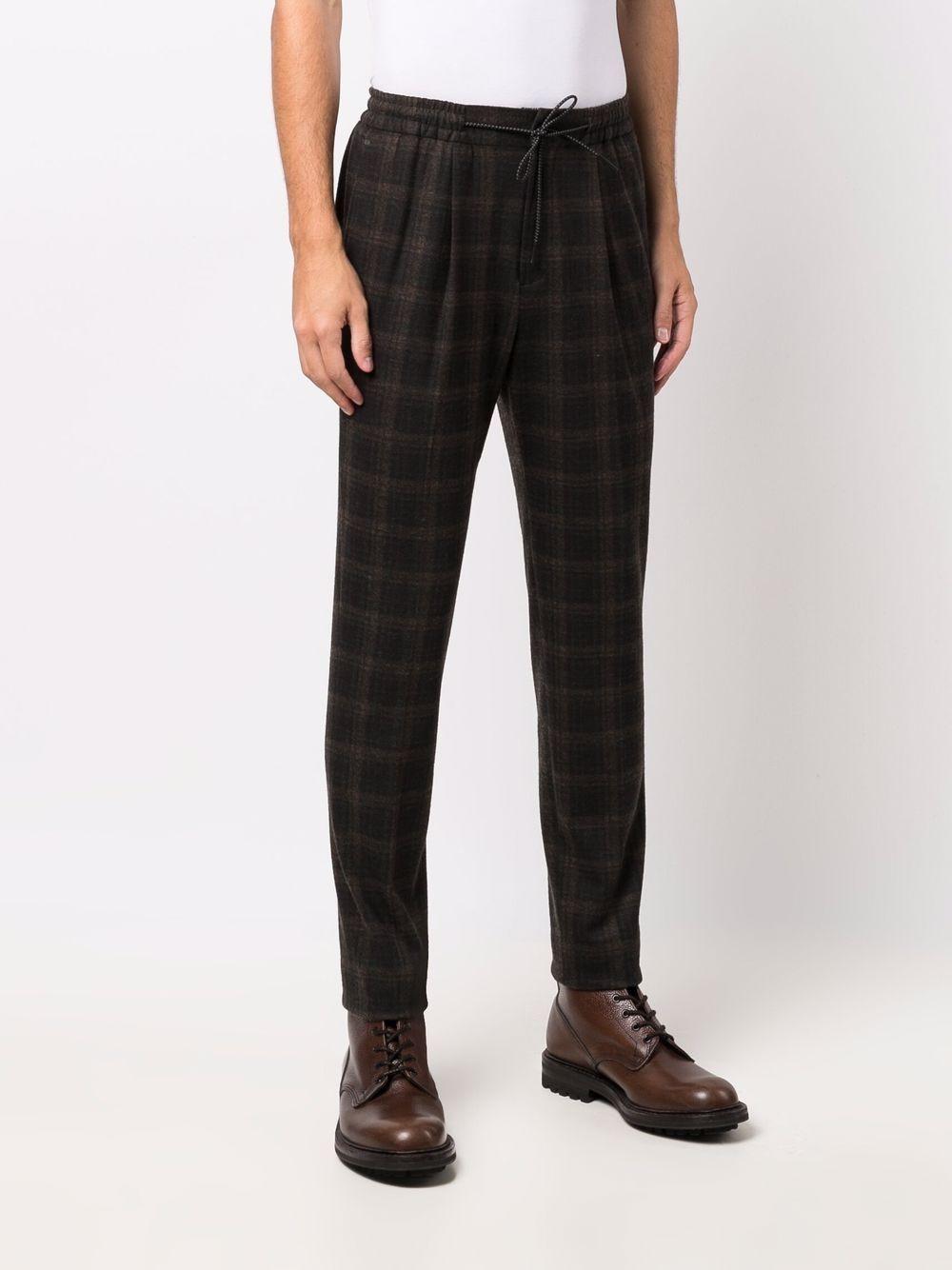 Dark-brown slim-fit checked trousers  MANUEL RITZ |  | 3132P5005-21368830
