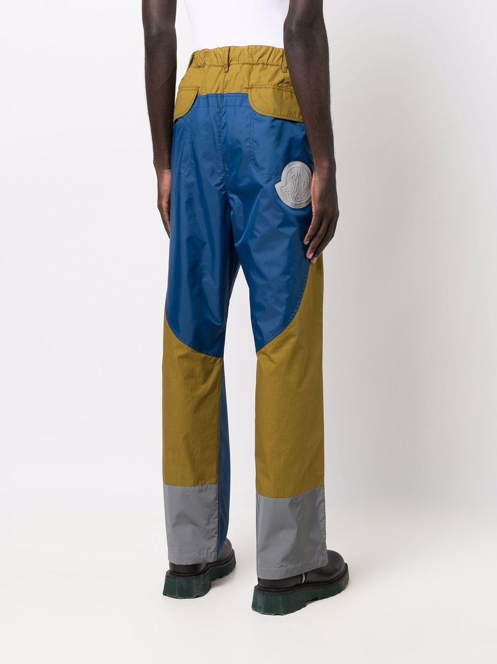 Blue and green cotton colour block Moncler Genius 1952  trousers MONCLER 1952      2A000-03-539JJ782