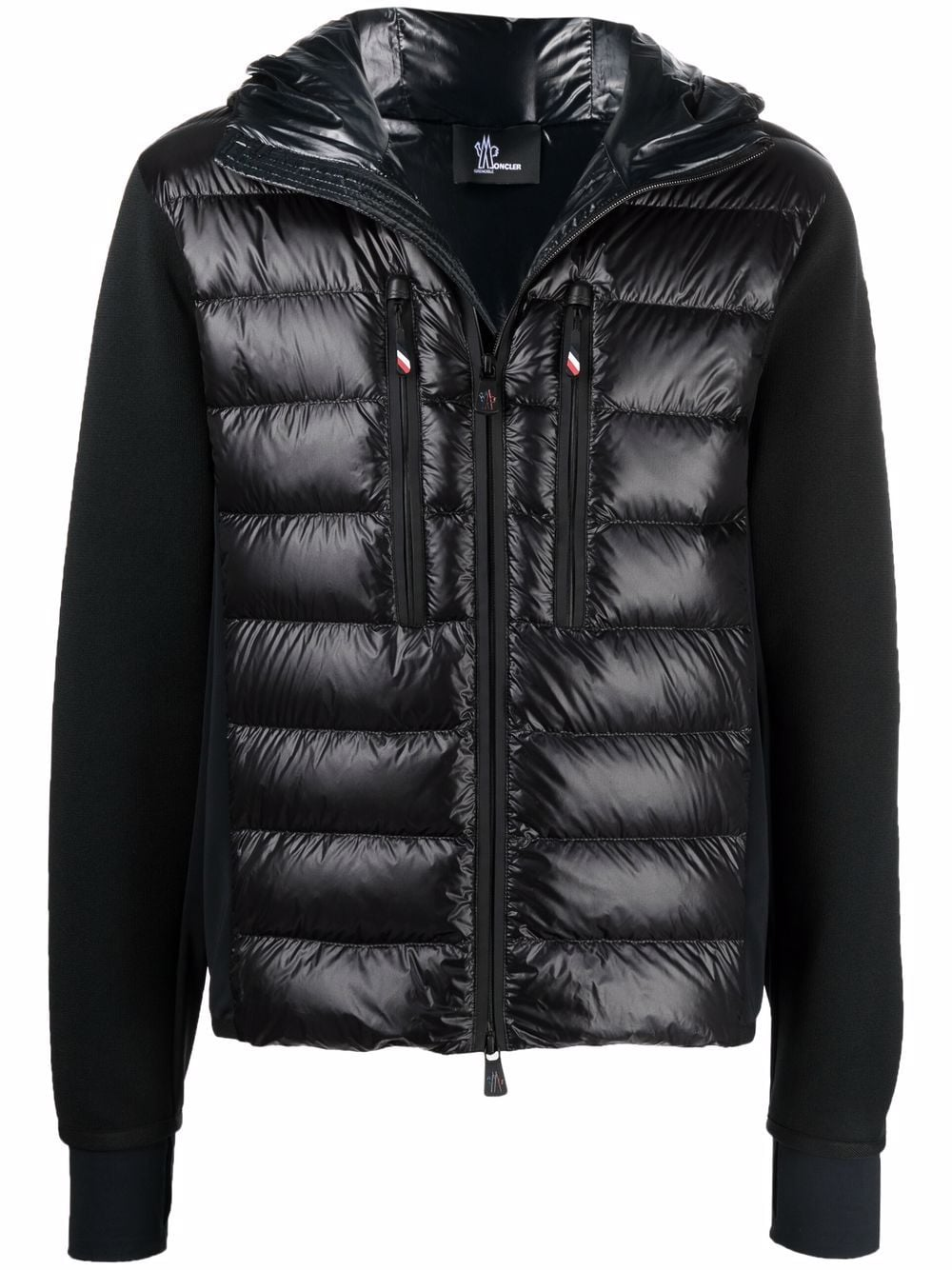 Black feather down panelled padded jacket  MONCLER GRENOBLE      9B000-09-C9043999