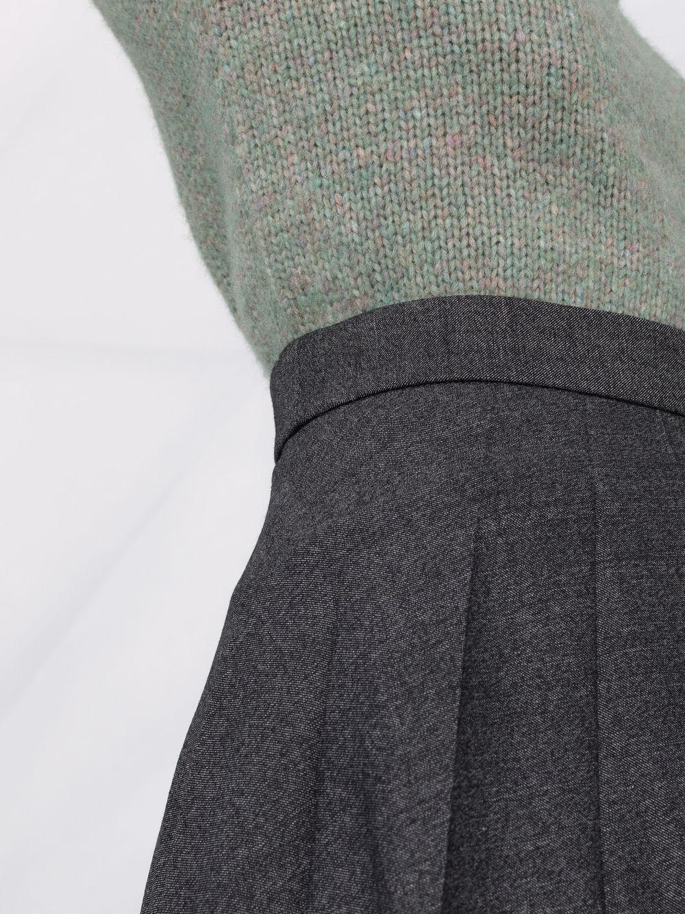 Maxi gonna plissettata in lana grigio scuro P.A.R.O.S.H.   Gonne   D620435-PLANE020