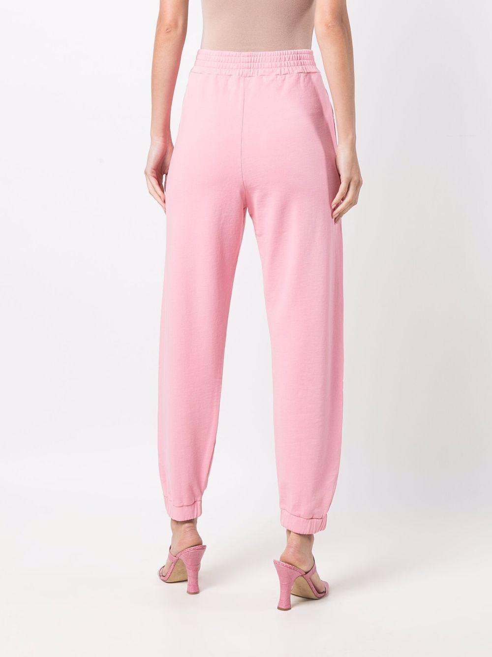 Pantaloni sportivi rosa in cotone con logo Pinko PINKO | Pantaloni | 1G16VY-Y7JQP25