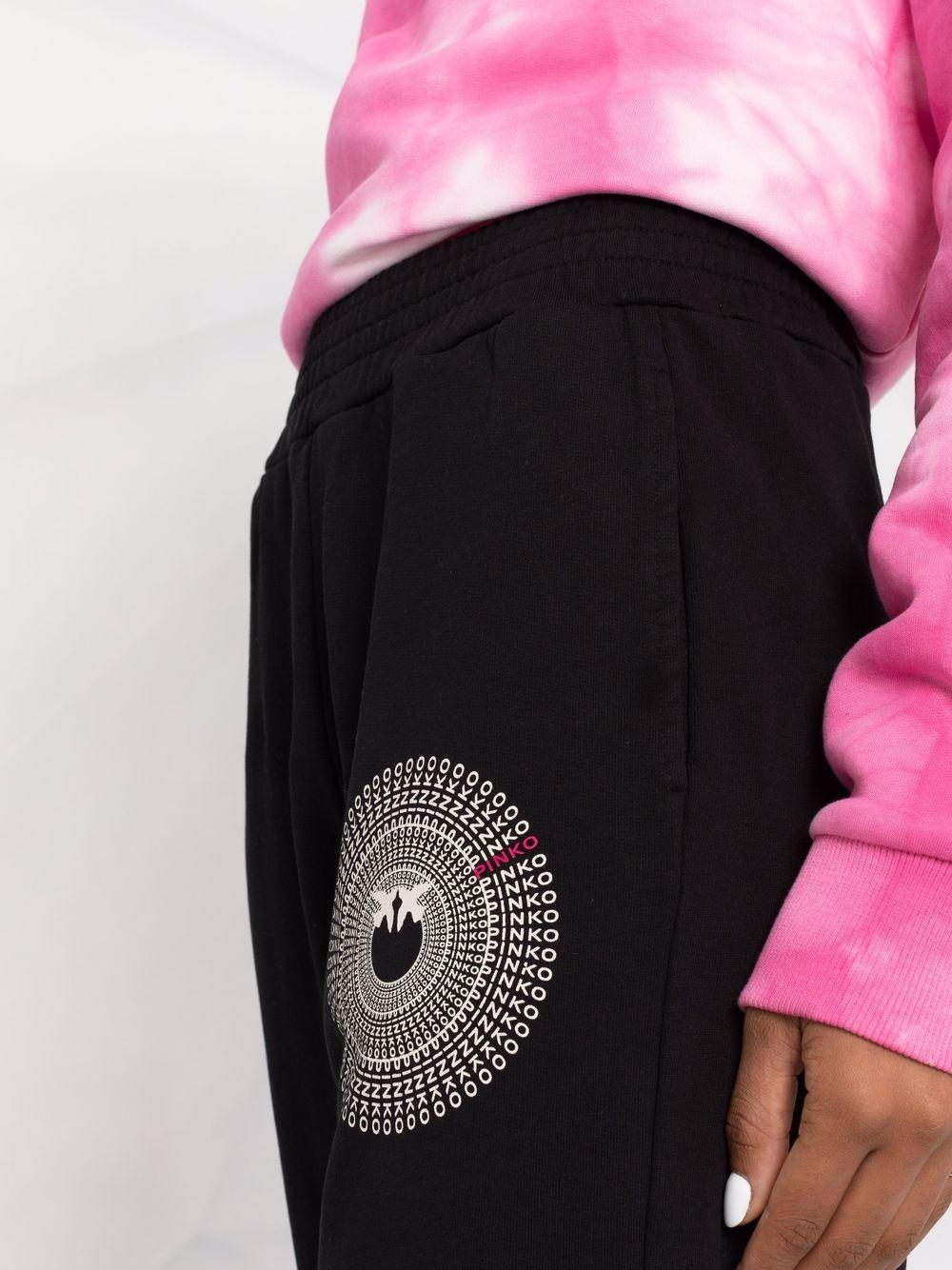 Black cotton track pants featuring grey Pinko logo  PINKO |  | 1G16VY-Y7JQZ99