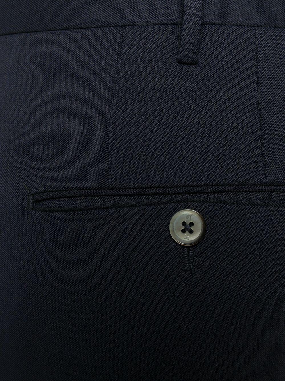 Chino slim fit in lana blu PT01 | Pantaloni | COKSTVZ00TVL-PO360360