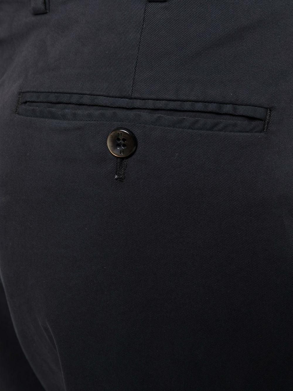 pantalone sartoriale cropped in cotone nero PT01   Pantaloni   CPRTZ0Z00PRI-NK030990