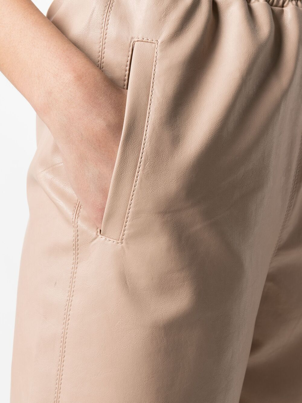 Light pink faux leather Kira trousers  STELLA MC CARTNEY      603599-SKB205765