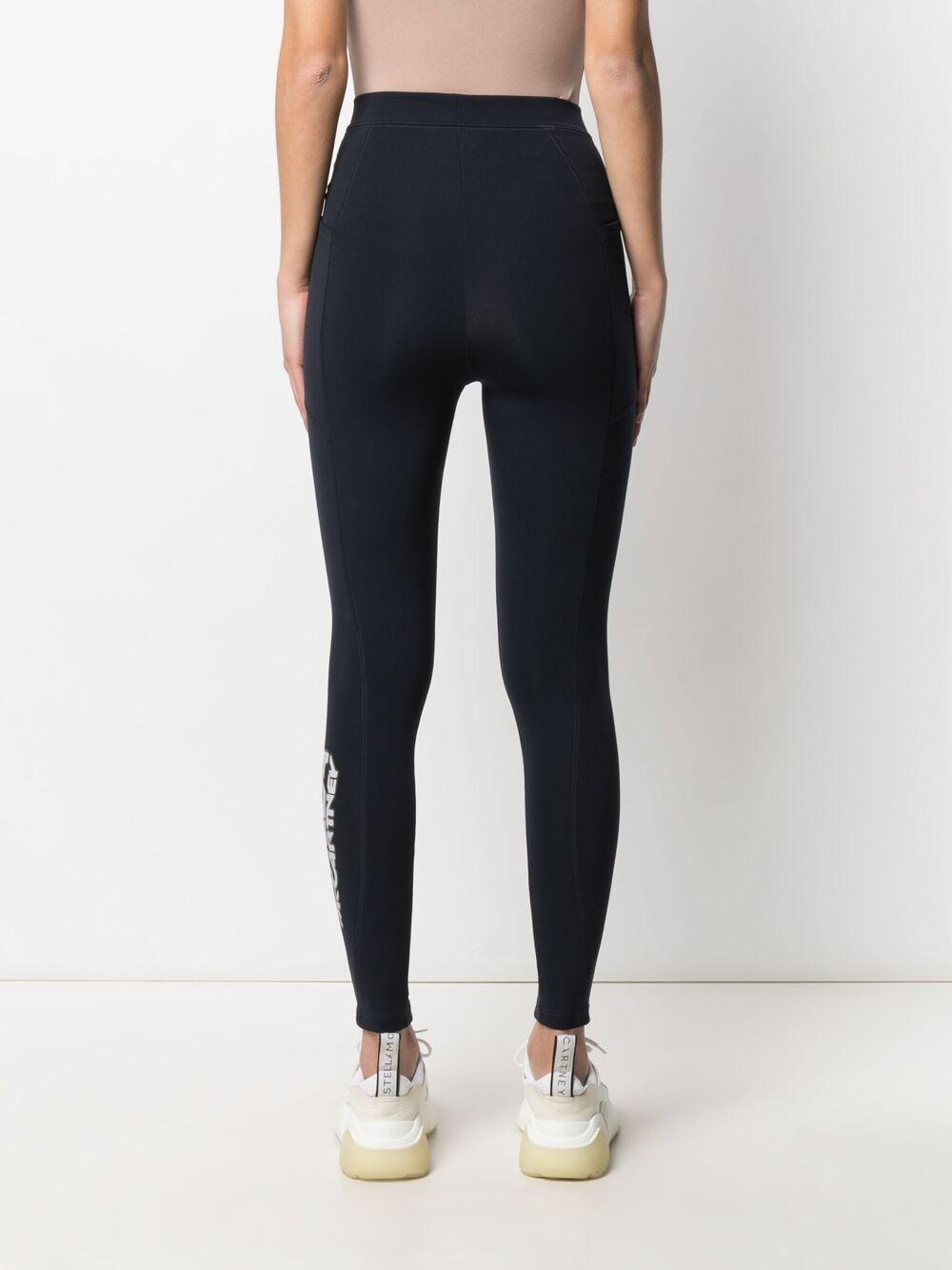 Leggings elasticizzato in scuba navy con logo Stella McCartney STELLA MC CARTNEY   Pantaloni   603681-SPW054000