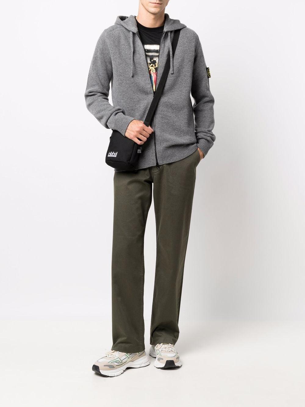 Grey wool hoodie featuring Stone Island logo patch STONE ISLAND |  | 7515546A3V0060