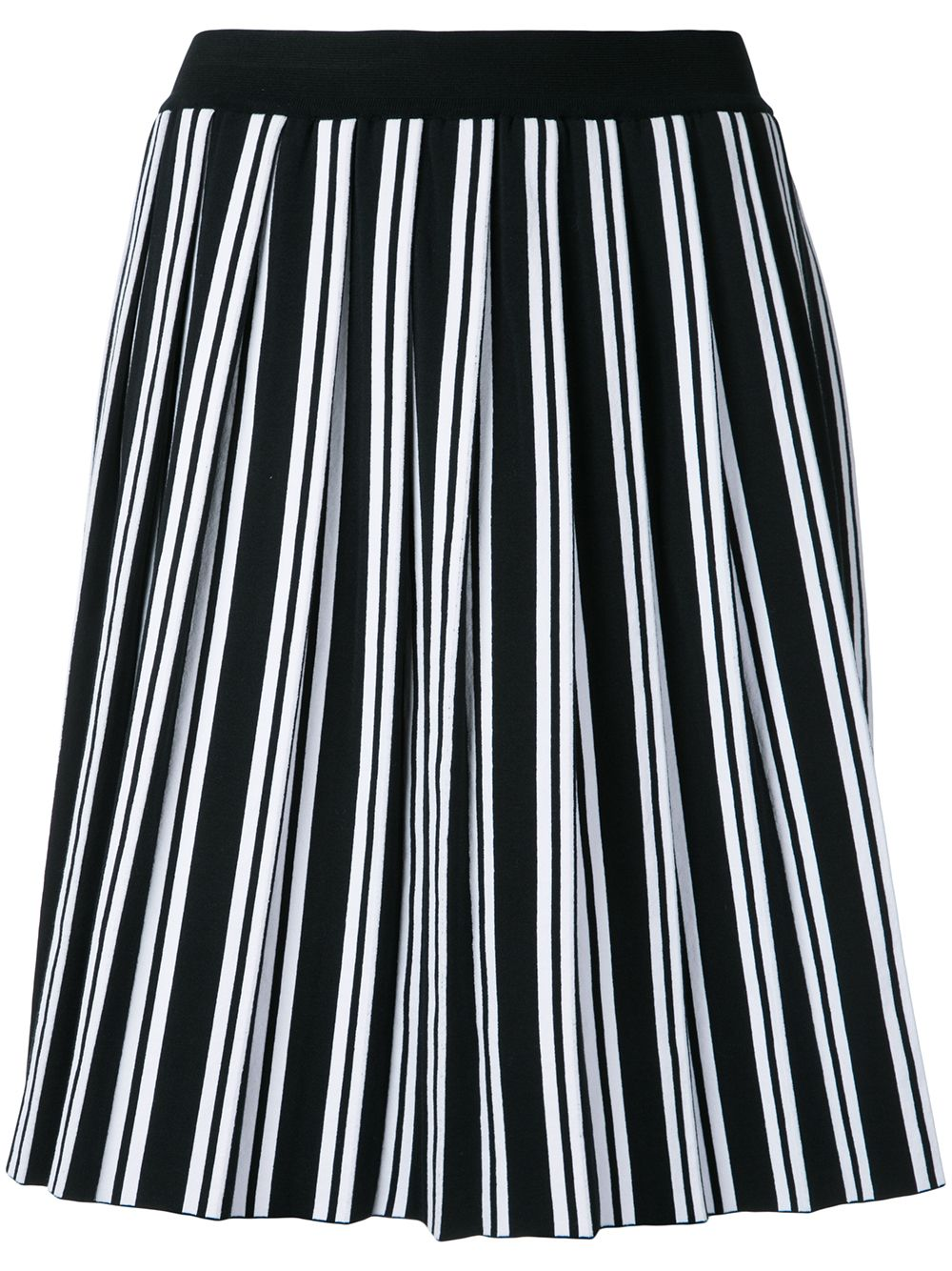 Black and white cotton striped pleated skirt BALENCIAGA |  | 456768-T31059040