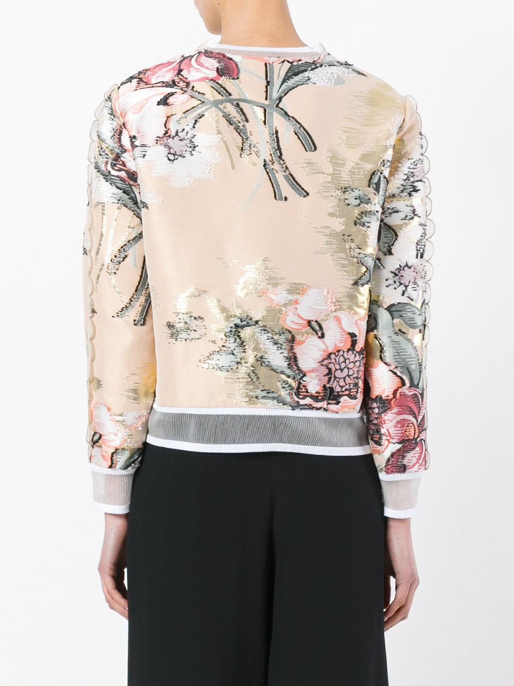 nude silk flower embroidery top FENDI |  | FS6632-9VBF08U7