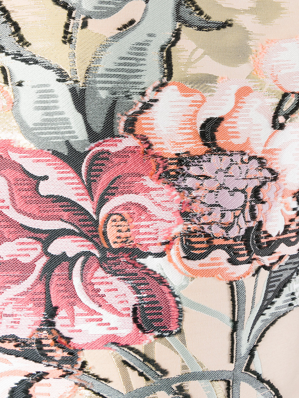 top in seta color carne con ricamo floreale FENDI | Maglieria Moda | FS6632-9VBF08U7