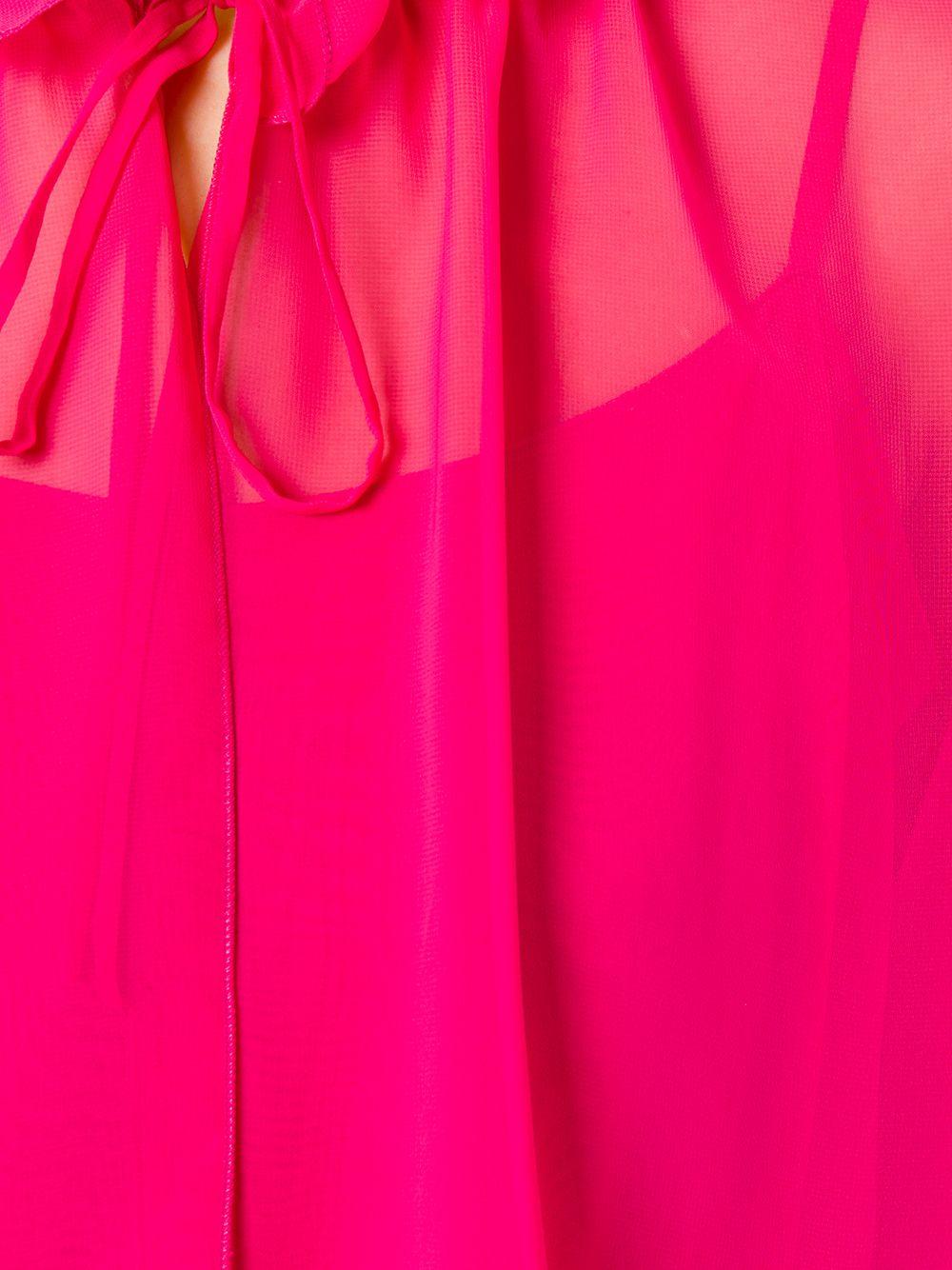 Abito lungo rosa fucsia con volant e maniche 3/ TALBOT RUNHOF | Abiti | MOLONIE1-ZW10340