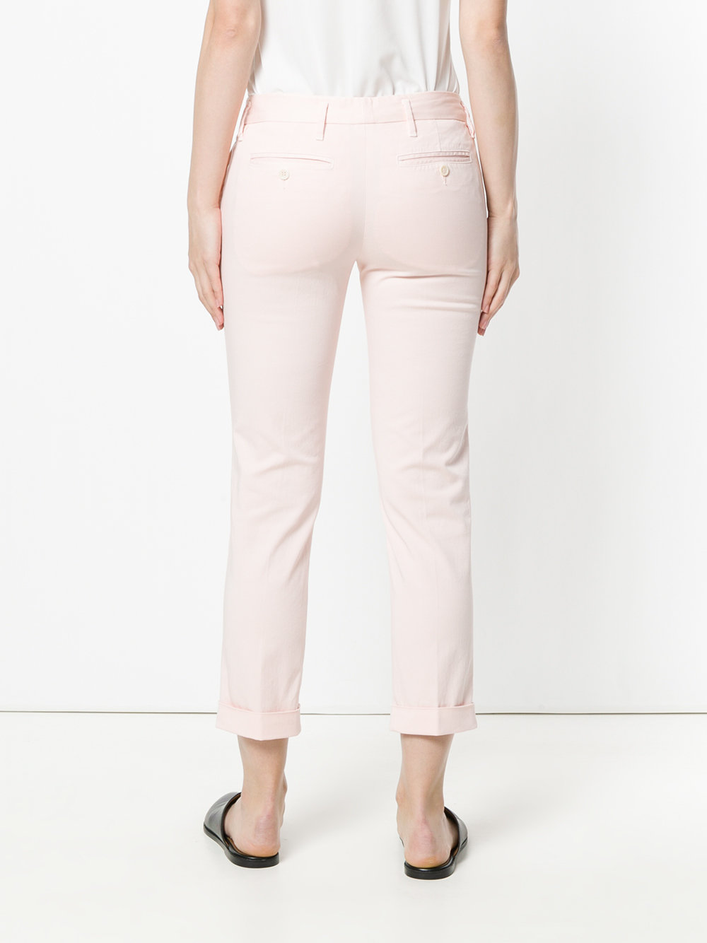 Pantaloni skinny rosa chiaro in misto cotone ALBERTO ASPESI |  | H102-F02685283