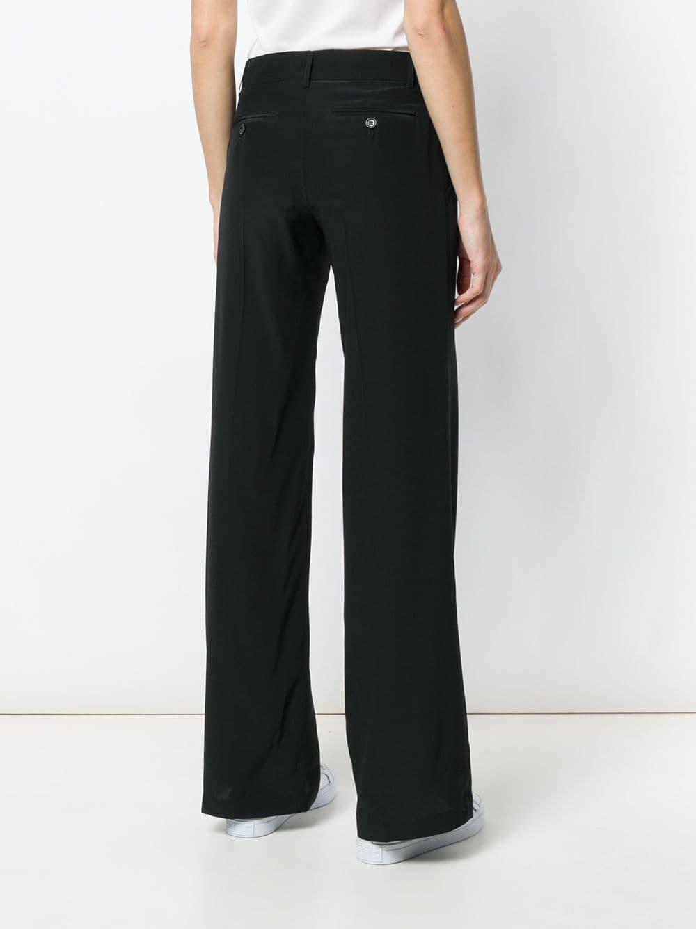 Pantaloni formali neri in seta a gamba dritta ASPESI | Pantaloni | H111 - B7535241